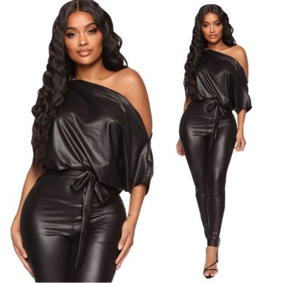 New Arrival Hot Onsale Womens Winter Clothing 2020 Women Fashion Sexy One Off Shoulder One Piece Jumpsuits And Rompers