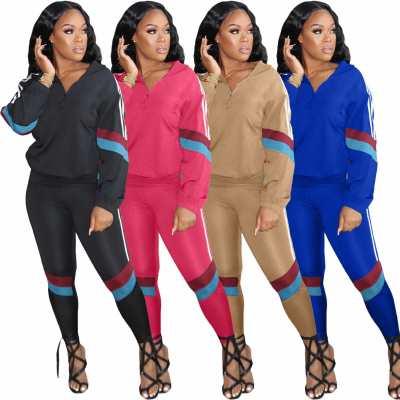 0111905 Newest Design Womens Winter Clothing 2020 Sports Suit 2 Piece Set Women Clothing