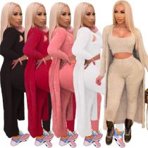 Best Design Lowest Price Winter Clothing For Women Comfortable Fur 3 Piece Set Women Clothing Lady 3 Piece Sets