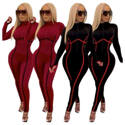 New Arrivals Casual Women Fall Clothing 2020 Sexy Women Rompers Lady One Piece Jumpsuits Bodycon Jumpsuit