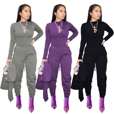 Good Design Solid Color Sports Casual Popular New Women Fashion Clothing Trousers Women Jogging Sweat Pants