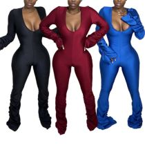 Latest Design Deep V neck Sexy Lady Clothing Bodycon Jumpsuit 2020 Women One Piece jumpsuits And Rompers