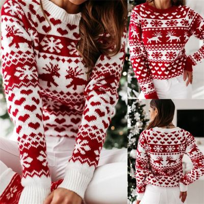 0120410 Newest Design Women Winter Clothing 2020 Christmas Ladie Tops Women Knitted Sweater