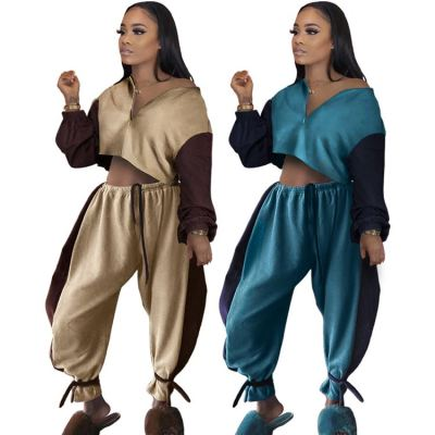 0122201 Hot Selling Women Clothes 2021 Outfits Fashion Two Piece Set Women Clothing