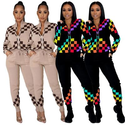 0122202 Best Design Women Clothes 2021 Outfits Fashion Two Piece Set Women Clothing