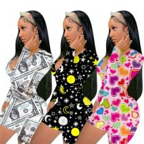 Best Seller Overall Printed 2021 New Casual Clothes Women One Piece Jumpsuits And Rompers Women Jumpsuit