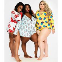 Best Sellers Overall Printed Stretchy Trendy Spring New Plus Size Jumpsuit One Piece Jumpsuits Women Rompers