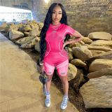 1030306 Hot Onsale Women Clothes 2021 Summer Casual Sports Suit Outfits Women 2 Piece Set