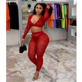 Latest Design Crop Top Lace Sexy Lady Fashionable Womens 2 Piece Set Women Sets Two Piece