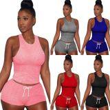 1030308 Hot Onsale Women Clothes 2021 Summer Casual Sports Suit Outfits Women 2 Piece Set