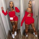 Hot Sale Off Shoulder Backless Sexy Women Clothes 2021 One Piece Jumpsuits Women Jumpsuits And Rompers