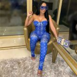 New Arrival Strapless Money Sexy Women One Piece Jumpsuits And Rompers 2021 Women Jumpsuit