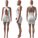 MOEN Good Quality Hollow Out Halter Stylish Vestido Woman Casual Dress Women Sexy 2021 Dresses