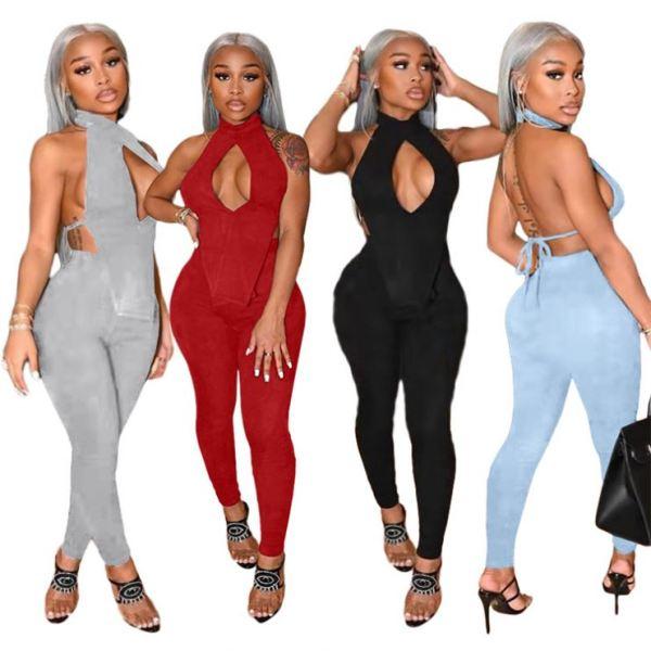 Cheap Price Hollow Out Backless Frauen setzt 2 Piece Set Women Clothes 2021 Women Two Piece Set