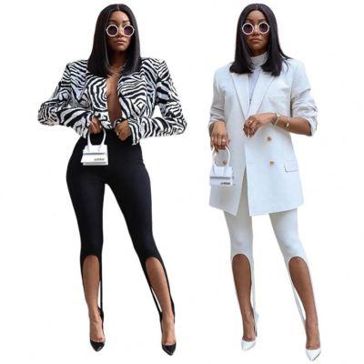 MOEN Best Quality Slit Elegant Pantalones dama Woman Fashion Clothing Woman Pants 2021 Women's trousers