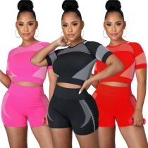 MOEN Good Quality Short Sleeves Sports Zweiteiliges Set Two Piece Short Set 2021 Womens Clothing 2 Piece Sets