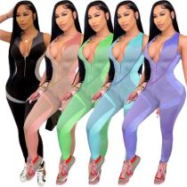 MOEN Best Quality V Neck Sports Pakaian Fashion Clothing Women Jumpsuit One Piece Jumpsuits And Rompers