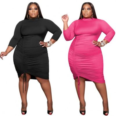MOEN Good Price Fashionable Vestidos casual Plus Size Clothing Woman Sexy Long Dress Women Clothing Dresses
