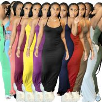 MOEN Good Quality Spaghetti Strap Stretchy Vestidos mujer Long Maxi Dresses Sexy Women 2021 Casual Dress