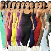 MOEN Good Quality Spaghetti Strap Stretchy Vestidos mujer Long Maxi Dresses Sexy Women 2021 Casual Dress
