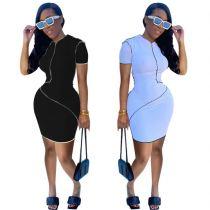 MOEN Newest Design Bodycon Stretchy Vestidos elegante Elegant Casual Dresses 2021 Women Clothing Sexy Dresses
