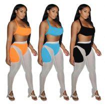 MOEN Good Quality Backless Halter Kadin setleri 2 Piece Set 2021 Two Piece Short Set Women Clothing