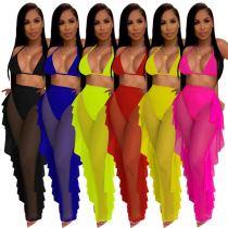 MOEN Latest Design Mesh Transparant Insiemi delle donne Two Piece Short Set Women Clothing Sets 2021 2 Piece Set