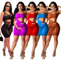 MOEN Hot Onsale Sexy Mesh Gaun wanita Women Clothing Casual Dress 2021 Women Short Dress