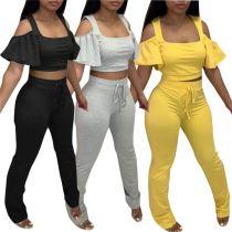 MOEN Cheap Price Solid Color Insiemi delle donne Two Piece Short Set 2021 Sets Womens Clothing 2 Piece Set