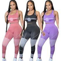 New Arrival MOEN Sleeveless Sports Conjunto elegante de mujer Two Piece Short Set Women Clothing 2021 2 Piece Set
