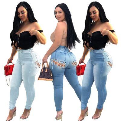 MOEN Best Price Tight Pencil Pants Celana jeans Woman Trousers 2021 Denim Jeans Women Long Pants