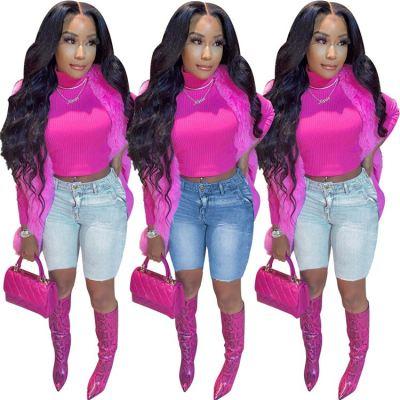 MOEN New Arrival  Summer Trendy Pantaloni donna Woman Clothing Shorts Denim Jeans Women Pants