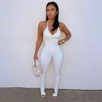 Best Seller Halter Stretchy Stylish Women Clothing 2021 Women One Piece Jumpsuits And Rompers