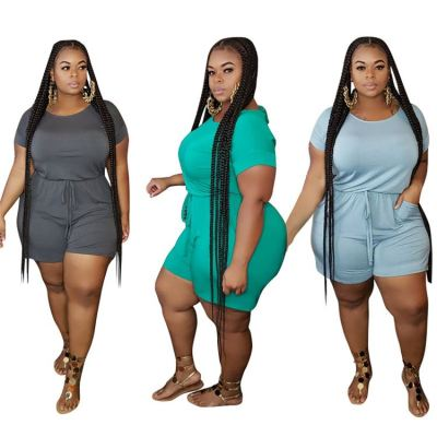 1040110 New Style 2021 Women Clothes Plus Size Women One Piece Jumpsuits And Rompers