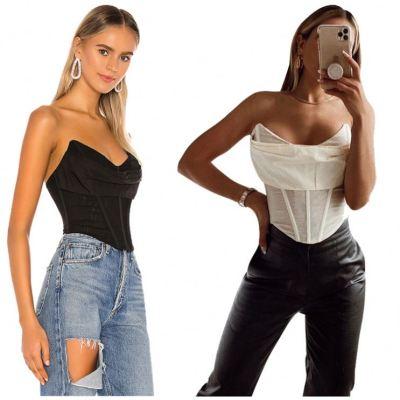 MOEN Strapless abbigliamento donna Fashionable Lady Women Fashion Clothing T Shirt Women Tops