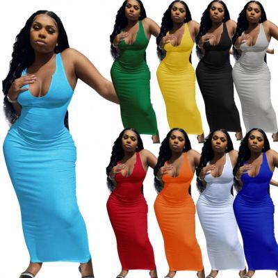 MOEN Suspender vestidos largos Bodycon Womens Clothing Plus Size 2021 Women Long Dress Women 2021 Sexy Dresses