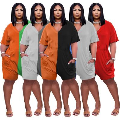 1040108 New Style 2021 Women Clothes Plus Size Women One Piece Jumpsuits And Rompers