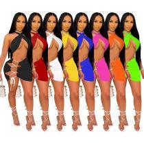 1040816 Best Seller Women Clothes 2021 Summer Outfits Two Piece Skirt Set
