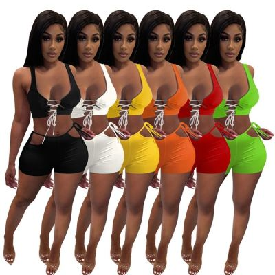 1040817 Best Seller Women Clothes 2021 Summer Outfits Two Piece Set Women Clothing