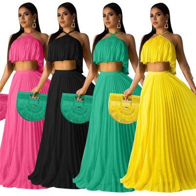 1041913 Best Seller Women Clothes 2021 Summer Outfit Two Piece Skirt Set