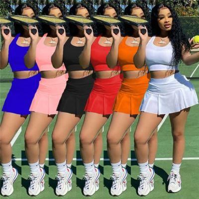 1041916 Best Seller Women Clothes 2021 Summer Outfit Two Piece Skirt Set