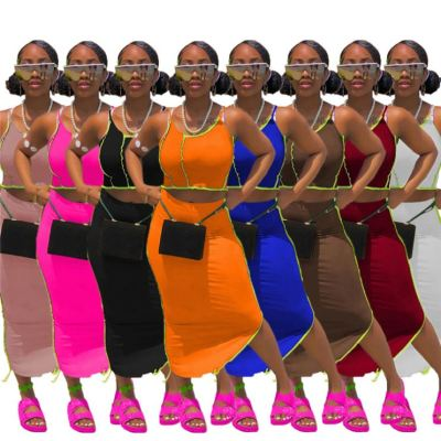 1041911 Best Seller Women Clothes 2021 Summer Outfit Two Piece Skirt Set