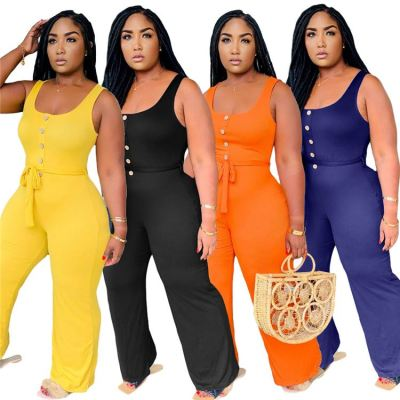 1042105 Best Design Women Clothes 2021 Summer Plus Size Women One Piece Jumpsuits And Rompers