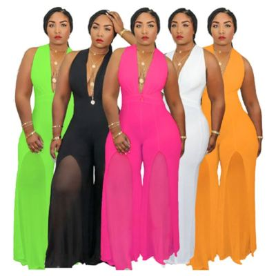 1042115 Best Design Women Clothes 2021 Summer Plus Size Women One Piece Jumpsuits And Rompers