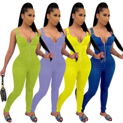 1042220 Hot Selling Women Clothes 2021 Summer Women Jumpsuits And Rompers