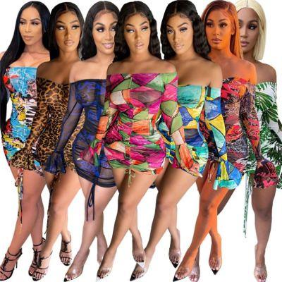 1042212 Design Fashion Women Clothes 2021 Summer Mesh Dresses Women Lady Elegant Casual Dress