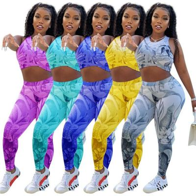 1042606 Hot Onsale 2021 Summer Women Clothes Outfits Two Piece Set Tracksuit For Women