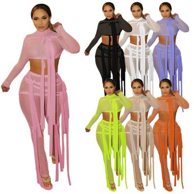 1042611 Hot Onsale 2021 Summer Women Clothes Outfits Two Piece Set Tracksuit For Women