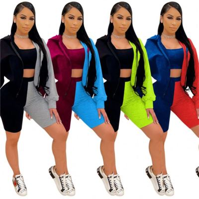1042617 Newest Design 2021 Women Clothes Outfits 3 Piece Set Tracksuit For Women