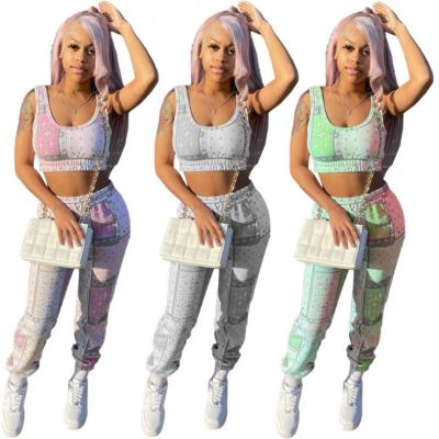 1042709 Hot Selling 2021 Summer Women Fashion Clothing Womens 2 Piece Outfit
